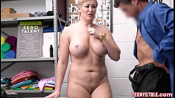 Blonde Milf shoplifter Ryan Keely doing anal for multiple orgasms with officer