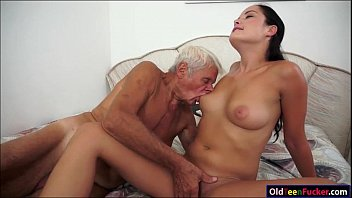 Sexy naked grandpas Dolly diore sucks off a grandpas cock and sits on his face