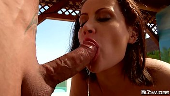 Fire and ice dvd adult Blowjobs by the pool lead to double dick sucking and cumshots for madlin