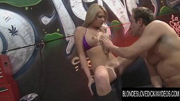 Blondes Love Dick - Sexy Babe Shawna Lenee Drains a Lucky Mans Balls