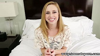 TeensDoPorn Petite teen waitress first time porn casting interview