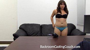 Amateur gets ambush creampie on casting couch