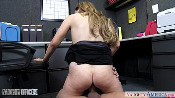 funny fucking videos | Busty office babe Tiff Bannister fucking thumbnail