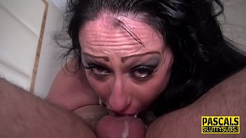 Restrained sub ass fucked