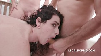 Lydia Black 6on1 with Manhandle Balls Deep Anal, DAP, Gapes and Swallow GIO1286