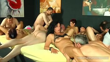 Ugly German real amateur swingers are having an orgy - part 2