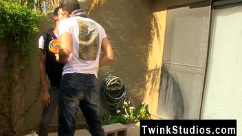 Twink movie Dustin Cooper is trying to get some gardening done but