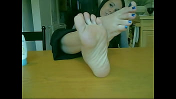 Amateur Goddess Teen Touches her Perfect Sensitive Feet and Toes