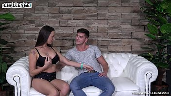 Handsome, Shy Guy in Front of Veritable Slut on a Casting