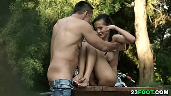 Nicole Love have sex in the woods