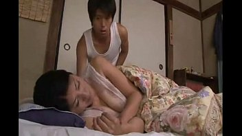 Japanese haired pussy in the bed thumbnail