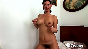 Mature lilac bush - Housewife with a big hairy bush makes a sex tape