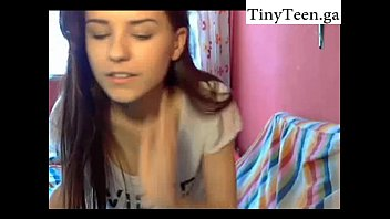 Cutie makes a show in her room - Self Shot website: www.TinyTeen.club