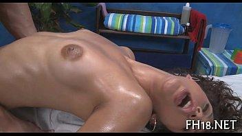 Naked oily massage - Guy is fingering vagina