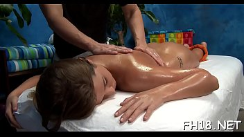 Watch this hot and slutty 18 yea rold get fucked hard doggy style by her massage therapist