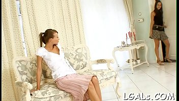 Relax in a company of two beautiful and naughty legal age teenager chicks