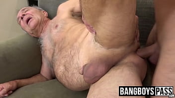 Gay old men sucking men Grandpa gets fucked and drilled by a much younger stud