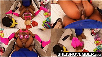 Old black vagina Missionary hardcore sex fucking sexy black babe pussy closeup pov big titties held, msnovember intense fuck by old bbc pushing her tiny legs up with multi view dominating her little body 4k sheisnovember