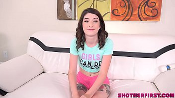 First porn casting with cute girl being fucked hard