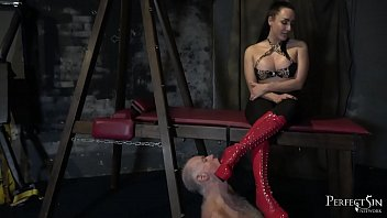 Heel Sucking Slut - Mistress Chloe Lovette and Her Boot Bitch