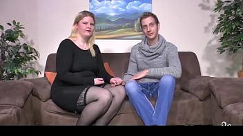 SEXTAPE GERMANY - Amateur BBW gets cum on tits in hardcore fuck
