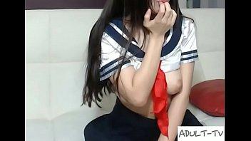 Slutty Korean masturbating on webcam