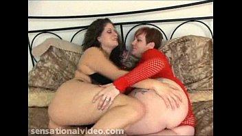 Two Busty BBW Lesbians Salina and Ryan Lick Clits