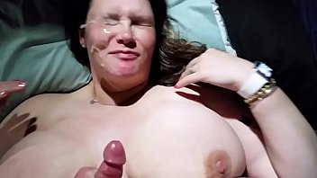 Wife titty fuck - Bbw wife titty fucked and huge cumshot