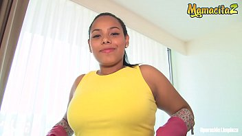 MAMACITAZ - Hot Latina Maid Andrea Flores Double Up Her Fun With Two Horny Guys