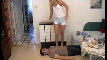 Nylon Girls love to trample guys