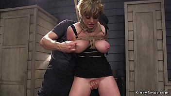 Huge tits Milf slave anal fucked bdsm