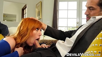 Redhead MILF cuckolds hubby with marriage counselor