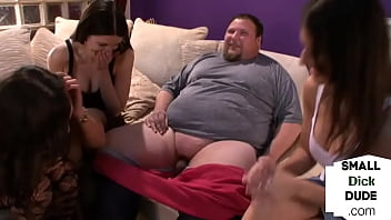 CFNM Strippers Giving Handjob To Tiny Dick Guy