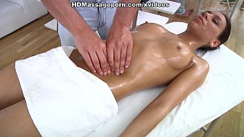 Lustful Julia sucks and fucks dick on sexy massage porn
