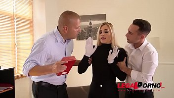 Blonde burglar Selvaggia caught in the act & ass fucked & double penetrated GP355
