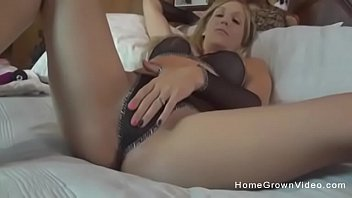 My hot blonde wife uses toys on both her tight holes