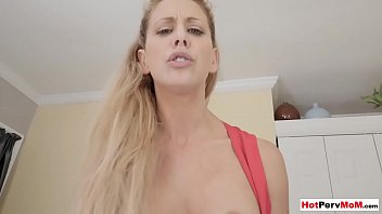 Frustrated cougar stepmother fucked her shy stepson