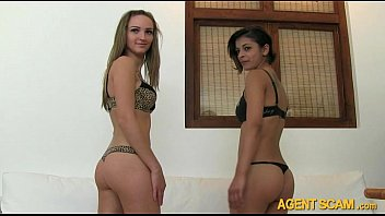 Fake agent fucked these two sexy ladies Lilian and Eszter