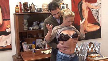 MMV Films German milf gets cum on her tits