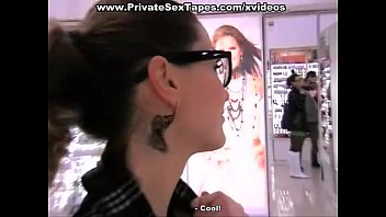 Free privete voyeur Bj in the restroom and public exposure
