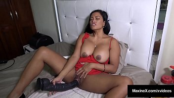 Busty Asian Maxine X Pussy Fucks 24 Inch Cock & Mechanical Fuck Toy!