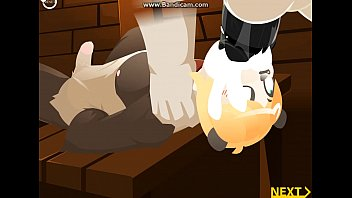 Furry bear gay art Force feeding panda