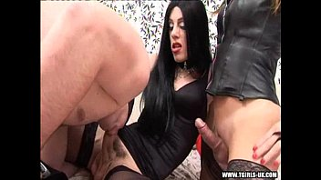 Dark hair transvestite tgirl sissy - Transsexuals fucking with a dude