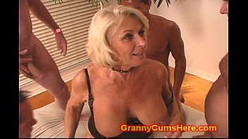 Here cums santa pics Granny gets a gang bang and cum bath