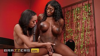Brazzers teens Huge tit mystique gives a helping hand to teen alexis tae - brazzers