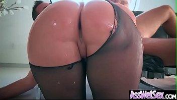 (Brooklyn Chase) Big Oiled Ass Girl Enjoy Deep Anal Intercorse clip-13