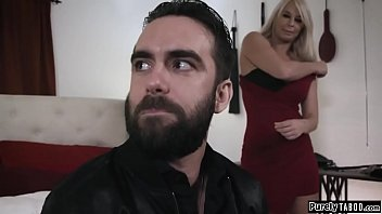 Male escort facesitted by busty mistress