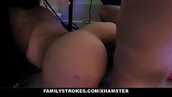 FamilyStrokes - Horny Stepsister Deepthroats Her Stepbrother