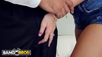 BANGBROS - Petite Blonde Gets Young Pussy Stretched By Big Black Cock thumbnail