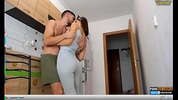 tuch sister boobs in kitchen